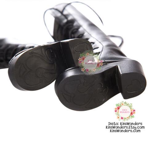 Bambola Scarpe 60cm Stivali Alti Con Lacci-BJD mirodoll DARK SD 1//3 1//4 tacchi Soft