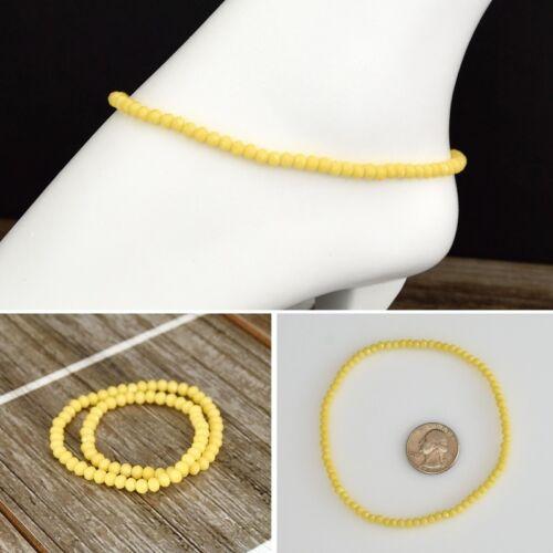 Crystal Beads Stretch Ankle Bracelet