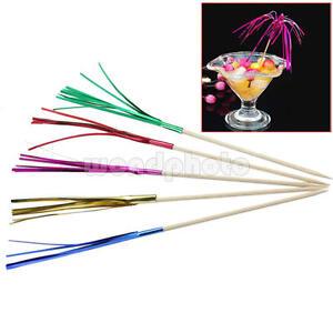 40pcs cocktail sticks drink fruit canapes decor picks for for Canape cocktail sticks