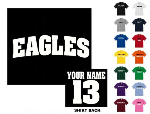 Free Shipping   Eagles College Letters Football Custom T-shirt #241