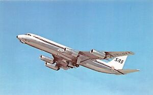 SAS SCANDANAVIAN AIRLINES CONVAIR 990 CORONADO POSTCARD