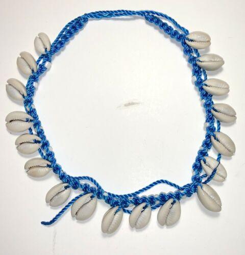 Choker Muscheln Perlen Surfer Beach Hippie Naturschmuck blau Halsschmuck