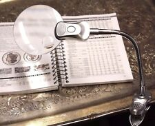 5x Table Magnifier Clamp Lamp LED Rimless Magnifying Glass Electronics Repair