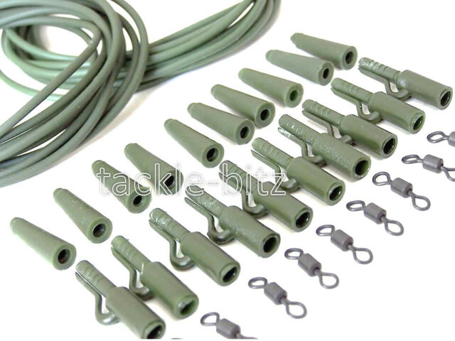 LEAD FEED Blei Futterkorb 2in1 Fertigmontage Carp Rig In Line Karpfen Montage 25
