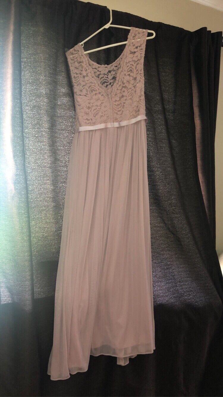 dusty pink bridesmaid dress - image 1