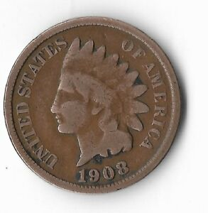 Rare-Old-Antique-US-1908-Indian-Head-Penny-Collection-Coin-American-Cent-LOT-M3