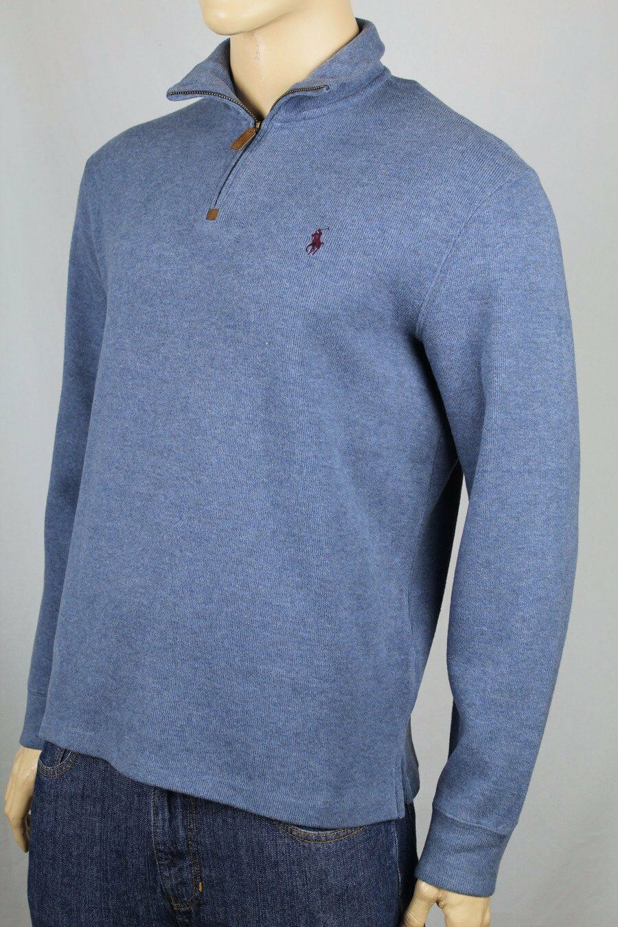 Polo Ralph Lauren bluee 1 2 Half Zip Sweater Purple Pony NWT