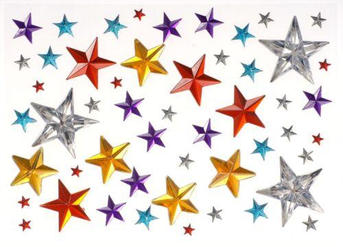 Semipreciosas estrellas 50 piedras fosforescentes autoadhesivas navidad tannenbaum nuevo