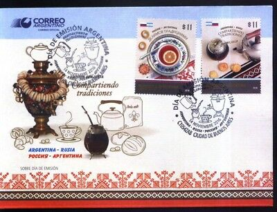 Tireless Argentine Argentina 2016 Russia Rusia Joint Issue Traditions Yv 3157-8 Fdc Argentina