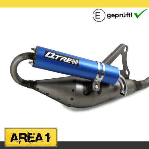 mit ABE Sport Auspuff Tecnigas Q-Tre blau für Peugeot liegend
