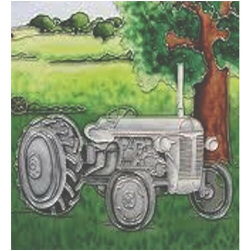 Benaya Grey Fergie Tractor Square Decorative Ceramic Picture Tile BAC165062