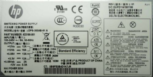 HP 633190-001 Pro 3305 Series MT Tower 300W ATX Power Supply Unit DPS-300AB-61 A