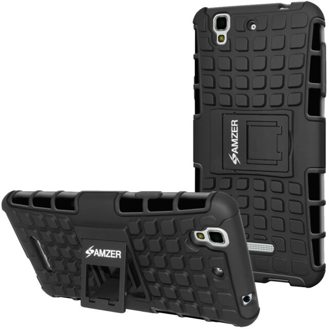 the latest e7b0e b2592 Amzer Black Hybrid Warrior Case for Micromax Yu Yureka Ao5510/ Plus Yu5510