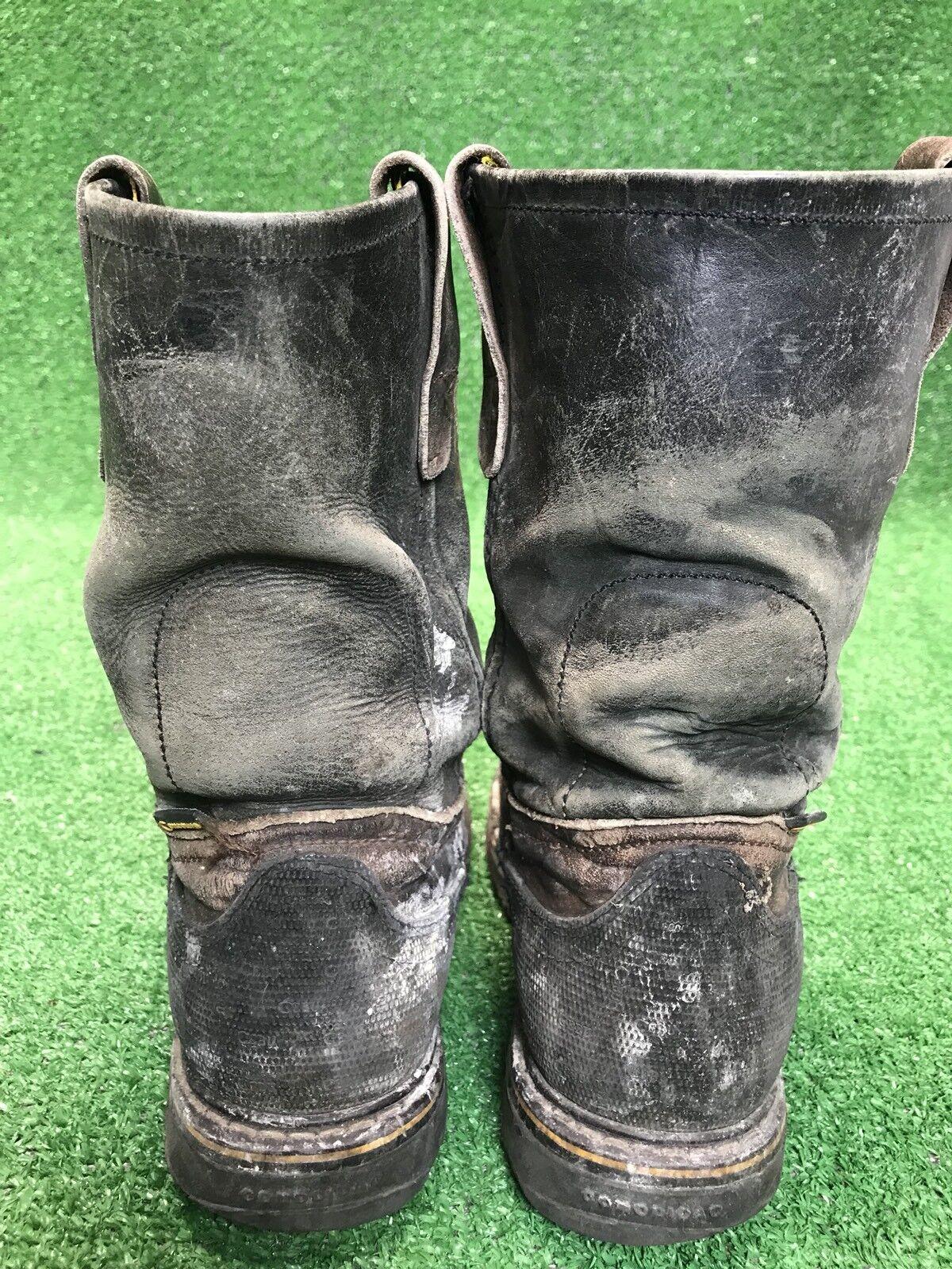 Cebu Uomo cuoio angosciato cuoio Uomo acciaio la brown gli stivali da lavoro gli uomini. 38872e