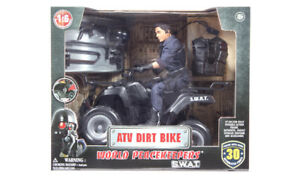 Swat Atv Dirt Bike With Man 1: 6 Scale - Brand New In Box