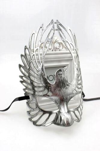 Silver ailé homme femme lustré vénitien masquerade masque bal masqué eagle
