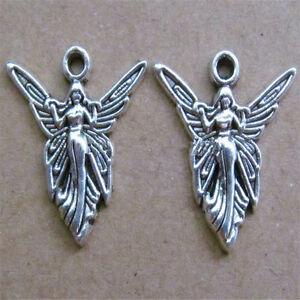 20PC-Tibetan-Silver-Angel-Charms-Pendant-Jewellery-Making-Craft-19-5mm-20mmG531P