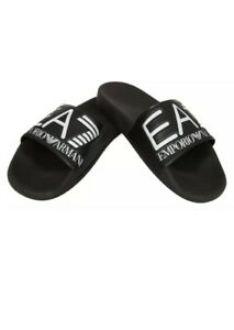 83f5c947b Emporio Armani EA7 Mens Sea World Slides Sliders Pool Beach Black Uk ...