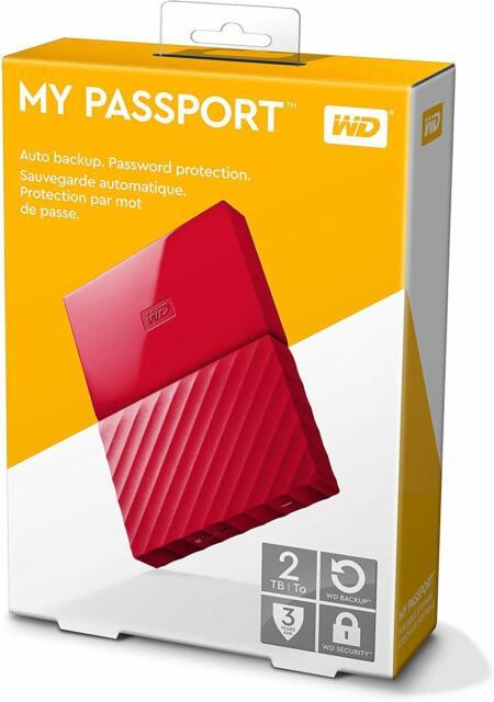 Western Digital WDBS4B0020BBL-WESN 2tb My Passport Usb 3.0 Ext Portable Hd 7mm