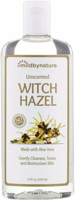 Mild By Nature, Witch Hazel, Unscented, Alcohol-Free, 12 fl oz (355 ml)
