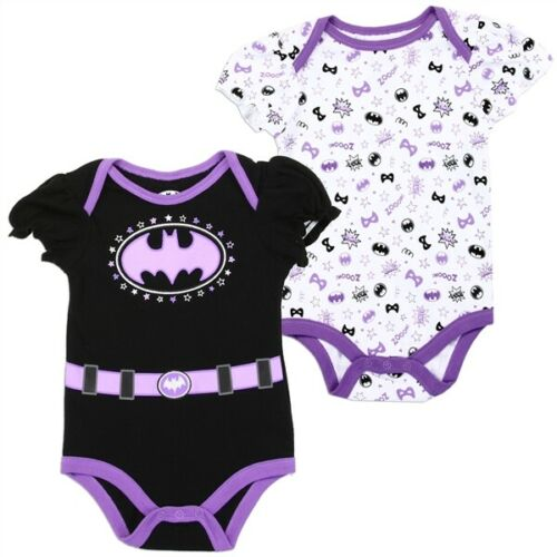 DC Comics Batgirl Girls Infant NewBorn Baby Bodysuit One Piece 2PC Superhero
