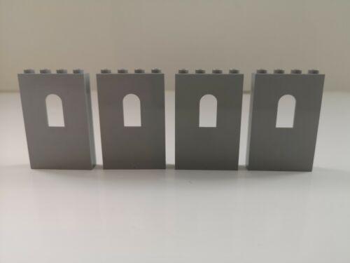 60808 Lego Castle 4 x Grey Panel 1 x 4 x 5 with Window