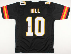 new concept 1cb79 840be Details about Tyreek Hill Signed Kansas City Chiefs Throwback Jersey (JSA  COA) 3xPro Bowl