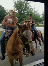 Shirtless Cowboy Country Male Dudes On Horses Cute Guys PHOTO 4X6 C1426