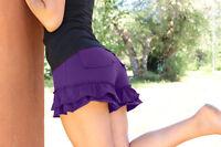 Fashion Womens Floral Ruffles Shorts Elastic Waist Mini HOT Pants Short Trousers