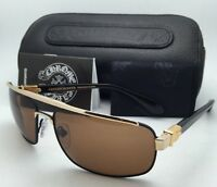 Chrome Hearts Sunglasses Penetration Mbk/gp-bk-p Black & Gold W/brown Lenses