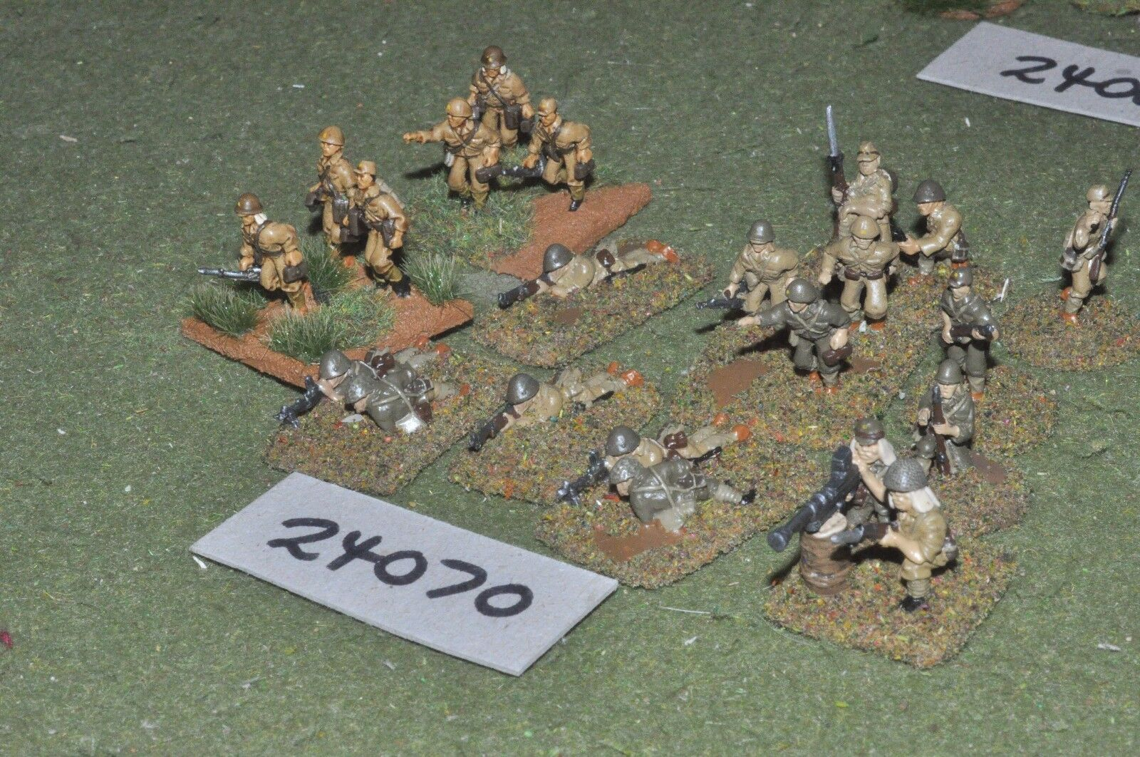 20mm WW2   japanese - battle group 20 figures - inf (24070)
