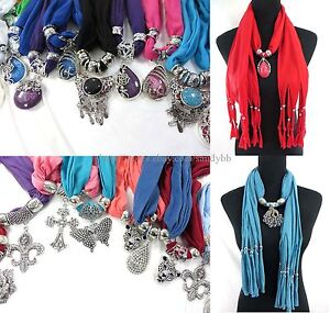 Us seller 6pcs wholesale jewelry scarf necklace bulk lot wrap image is loading us seller 6pcs wholesale jewelry scarf necklace bulk mozeypictures Choice Image