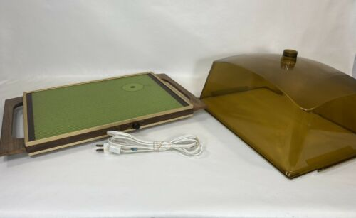 Vintage Cornwall 1346 Electric Serving Tray Electro Server w/RARE Lid