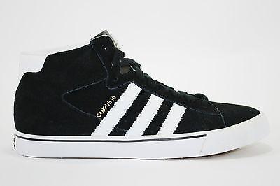 Adidas CAMPUS VULC MID SB Black White Met Gold Discounted (192) Men's Shoes | eBay