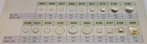 100 Anschlagpuffer Elastikpuffer Ø 8,0 x 1,6 mm transparent selbstklebend 3007