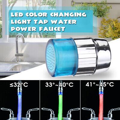RGB//1//3Color Temperature Sensor Water Tap Faucet Colorful LED Light Round Mini U