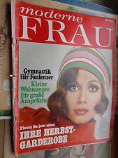 moderne Frau Heft 16/6.8.1968 (Gymnastik Herbstmode Prag Magie Jagd Mäntel)