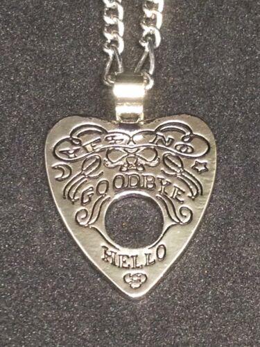 Ouija Planchette Necklace Filigree Style Oracle Goth Alternative Unique Gift