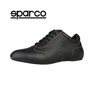 NEW Sparco Mens Black Leather Sneakers Sport Casual Driving Racing ... 2f3dfc470