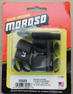 Moroso-72020-Numbered-Shrink-Sleeves-For-Plug-Wires-1-Thru-8-Black