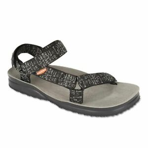 Lizard Hike Sandalo uomo outdoor trekking mare nero grigio map grey