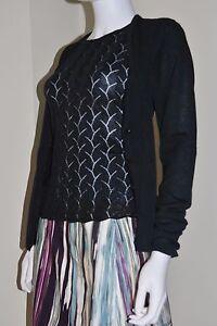maglione 2 di nera pizzo maglia 1 cardigan di e in In Top Armani seta M Miscela Emporio vqS544
