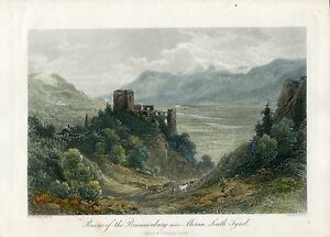 Ruins-Of-The-Brunnenburg-Near-Meran-South-Tyrol-Gravierkunst-bei-T-Heawood