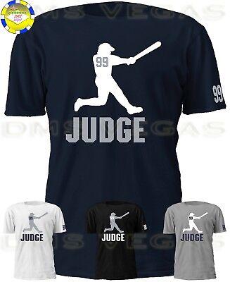 online store b9aa4 dd81f New York Yankees Aaron Judge Jersey Tee T Shirt Shadow Men Size S-5XL   eBay
