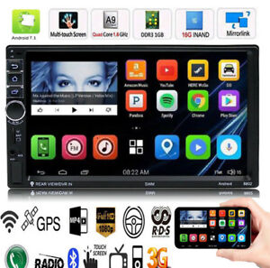 "Quad Core Android 7.1 3G WIFI de 7 /""Doble 2DIN Car Radio estéreo MP5 GPS Player"