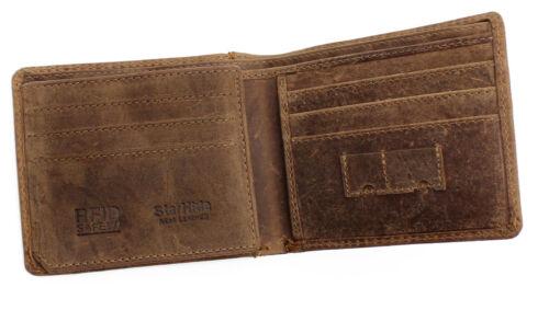Mens Designer RFID Safe Contactless Card Blocking Leather Billfold Wallet 1145