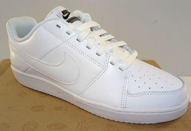 NIKE Backboard II Men's Leather Casual Athletic Shoe 487657 100 White  NEW  Med