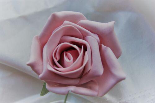 Hoja de hiedra único Rosa Liso Ojal Con Flores De Boda Pin Novio