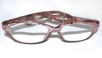 Aj Morgan Womens Reading Glasses Readers Pink Brown Multi Frame