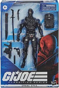 "G.I. GI Joe 6"" Action Figure Classified Snake Eyes (Red Line on Head) IN STOCK"